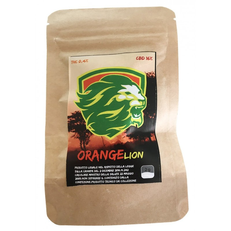 CANAPA SATIVA ORANGE LION CBD INFIORESCENZA ERBA LEGALE DI ALTA QUALITA'