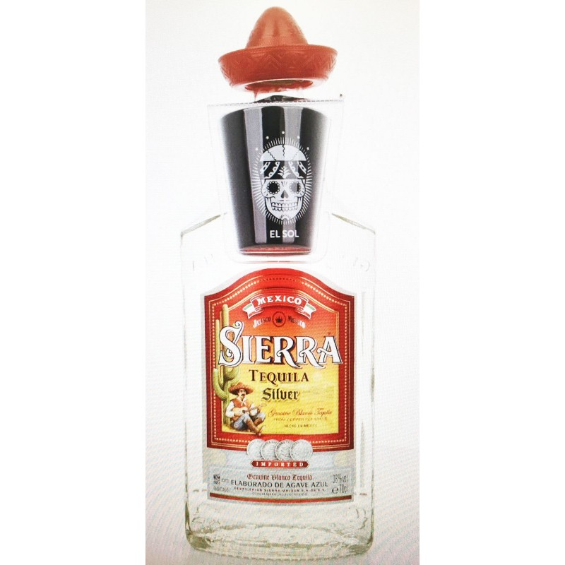 TEQUILA SIERRA SILVER CL.70 CON BICCHIERE