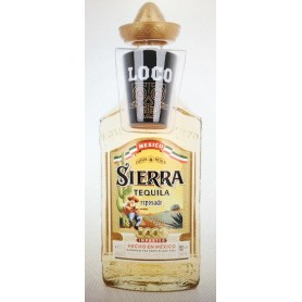 TEQUILA SIERRA REPOSADO CL.70 WITH GLASS