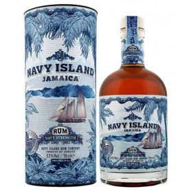 RHUM NAVY ISLAND JAMAICA NAVY STRENGTH CL.70 WITH CASE
