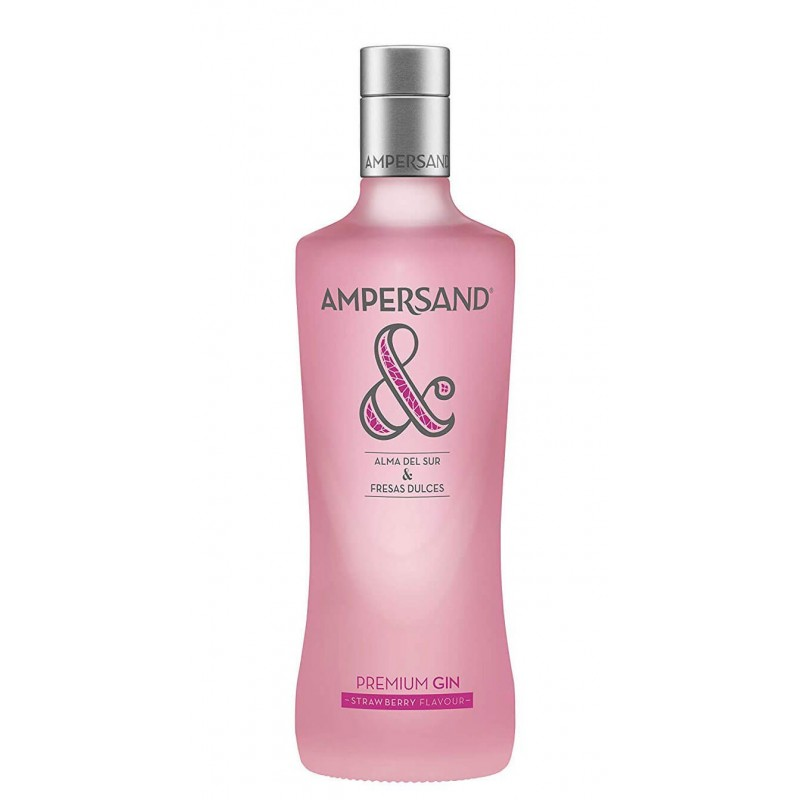 GIN AMPERSAND STRAWBERRY FLAVOUR PREMIUM CL.70