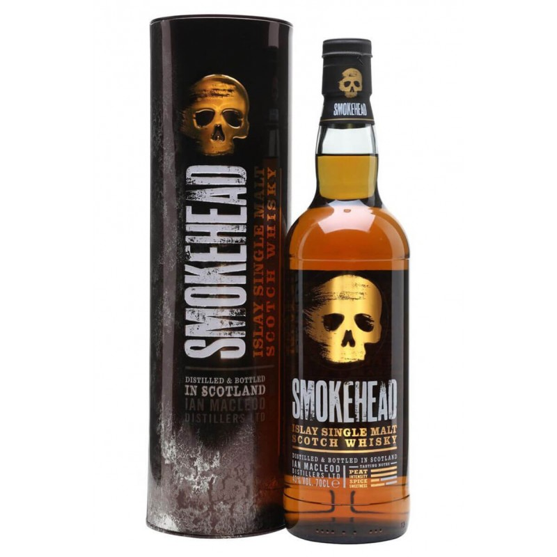 WHISKY SMOKHEAD SINGLE MALT CL.70 MIT METALLKOFFER