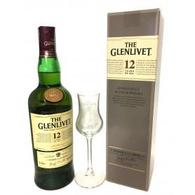 WHISKY THE GLENLIVET 12 YO CL.70 CON ASTUCCIO E BICCHIERE