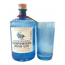 GIN GUNPOWDER IRISH CL.70 CON BICCHIERE