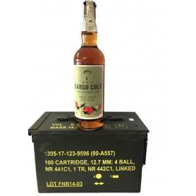 RHUM CARGO CULT SPICED RUM CL.70 IN USED AMMUNITION BOX