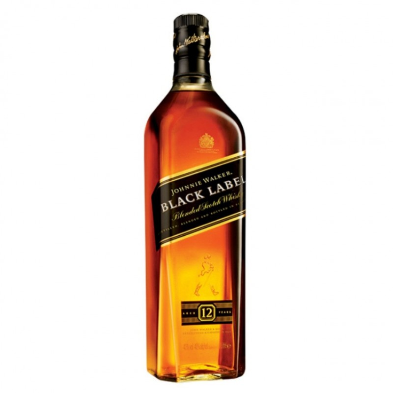 JOHNNIE WALKER BLACK LABEL WHISKY 12Y LT.1