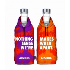 "VODKA ABSOLUT LIMITED EDITION ""MSGM"" PRIMA COPPIA CL.70 CON 2 BICCHIERI"