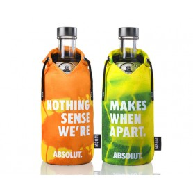 "VODKA ABSOLUT LIMITED EDITION ""MSGM"" ZWEITES PAAR CL.70"