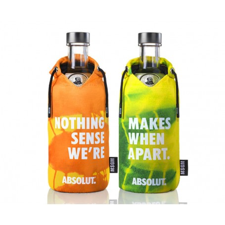 """VODKA ABSOLUT LIMITED EDITION """"MSGM"""" SECOND COUPLE CL.70"""