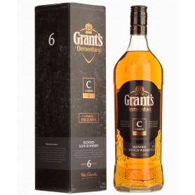 "WHISKEY GRANT'S ELEMENTARY CARBON 6 YO LT.1 WITH CASE ""SAVINGS FORMAT"""