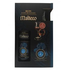 RHUM MALTECO ANEJO SUAVE 10 YO CL.70 WITH 2 GLASSES