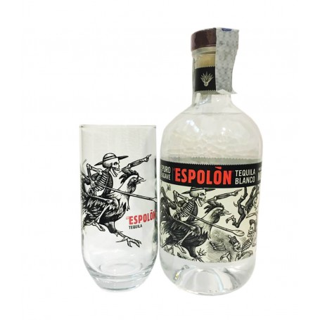 TEQUILA ESPOLON BLANCO CL.70 WITH GLASS
