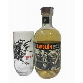 TEQUILA ESPOLON REPOSADO CL.70 WITH GLASS