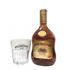 RHUM APPLETON ESTATE RESERVE BLEND CL.70 WITH GLASS