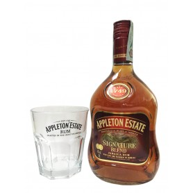 RHUM APPLETON ESTATE SIGNATURE BLEND CL.70 CON BICCHIERE