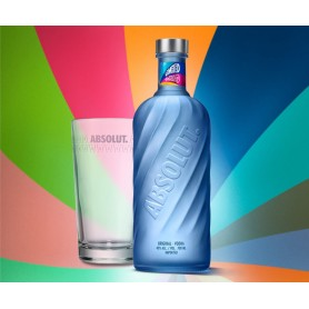 VODKA ABSOLUT MOVEMENT LIMITED EDITION CL.70 CON BICCHIERE HIGHBALL IN OMAGGIO