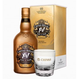 WHISKEY CHIVAS REGAL XV GOLD 15 YO CL.70 WITH CASE + 2 TUMBLER GLASSES FOR FREE