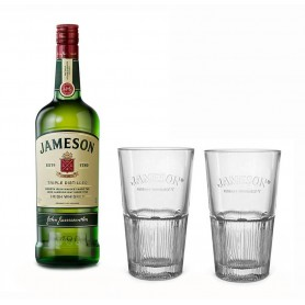 WHISKY JAMESON CL.70 CON DUE BICCHIERI HIGHBALL IN OMAGGIO
