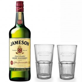 WHISKEY JAMESON ORIGINAL LT.1 WITH TWO FREE HIGHBALL GLASSES