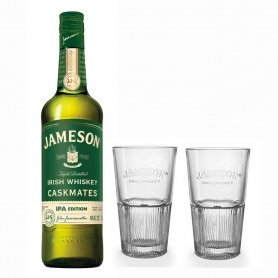 WHISKY JAMESON CASKMATES IPA EDITION CL.70 CON 2 BICCHIERI HIGHBALL IN OMAGGIO