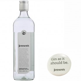 GIN JENSEN'S LONDON DRY + 4 FREE PINS CL.70