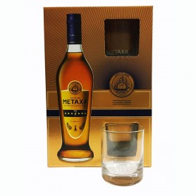 METAXA 7 STARS CL.70 WITH 2 GLASSES