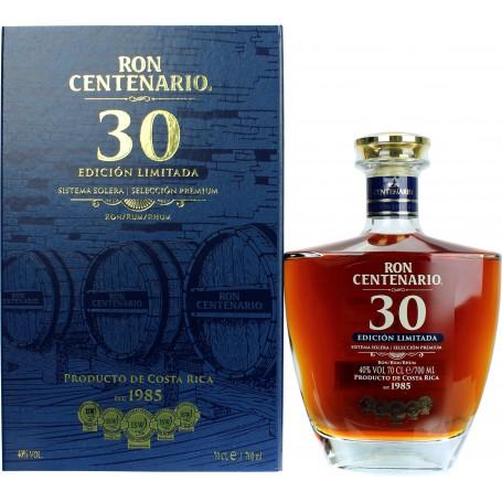 RHUM CENTENARIO EDICION LIMITADA SOLERA 30 YO CL.70 MIT KOFFER