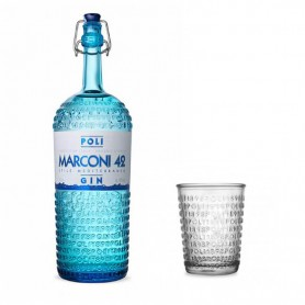 GIN POLI MARCONI 42 MEDITTERANEAN STYLE CL.70 WITH TUMBLER GLASS