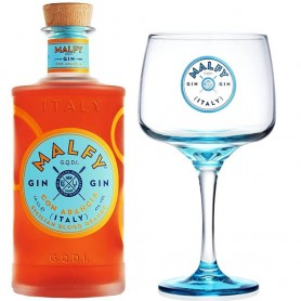 GIN MALFY WITH ORANGE CL.70 WITH GLASS