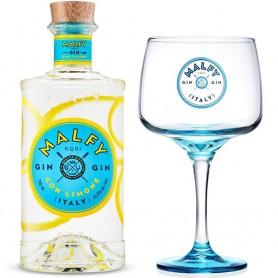 GIN MALFY MIT ZITRONE CL.70 MIT GLAS