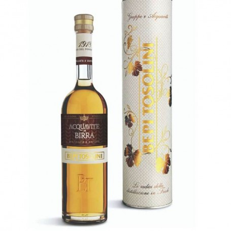 """TOSOLINI BEER ACQUAVITE """"FRIULIAN BEER DISTILLATE"""" CL.50 WITH CASE"""