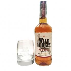 WHISHY WILD TURKEY CL.70 CON BICCHIERE BASSO