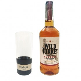 WHISKEY WILD TURKEY CL.70 WITH HIGH GLASS