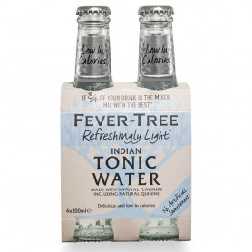FEVER TREE REFRESHINGLY LIGHT INDIAN TONIC WATER CL.20 X 4 BOTTLES
