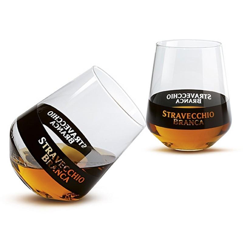 GLASS STRAVECCHIO BRANCA X 6 PIECES