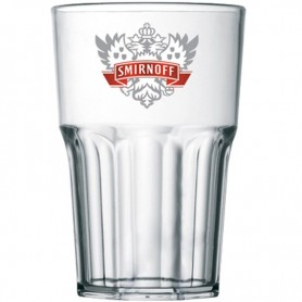 GLASS SMIRNOFF VODKA POLYCARBONATE X 6 PIECES