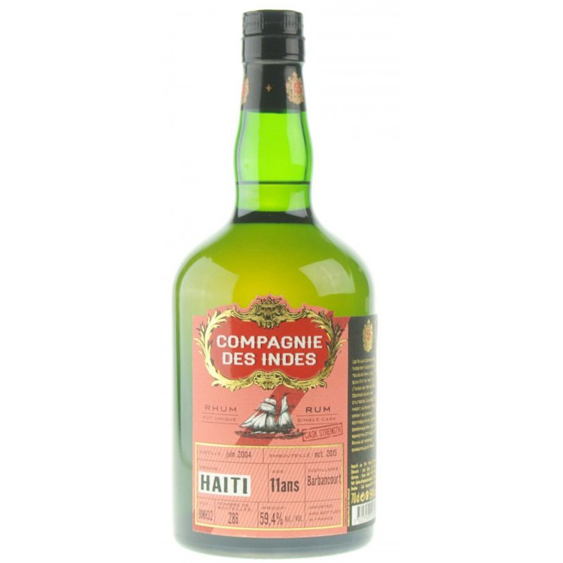 RUM COMPAGNIE DES INDES HAITI SINGLE CASK 11 YEARS OLD CASK STRENGTH