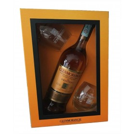 WHISKY GLENMORANGIE 10Y CL.70 WITH 2 GLASSES